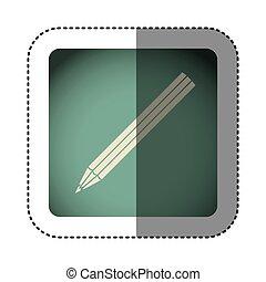 sticker color square with pencil icon