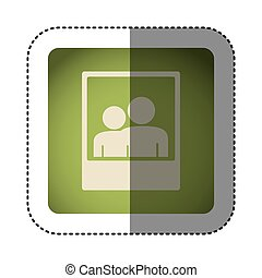 sticker color square with picture icon