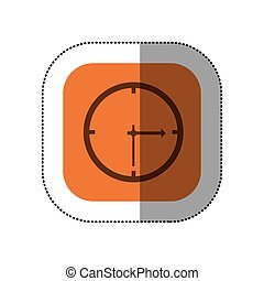 sticker color square with wall clock icon