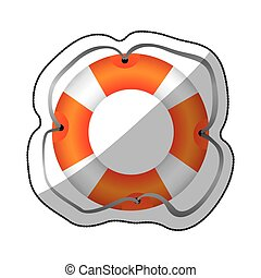 sticker colorful flotation hoop with lasse vector...