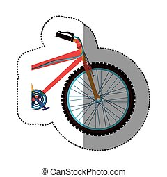 sticker colorful medium part bicycle with pedals