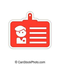 sticker, de kaart van het document, achtergrond, witte , identiteit