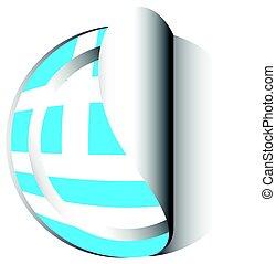Sticker design for flag of Greece