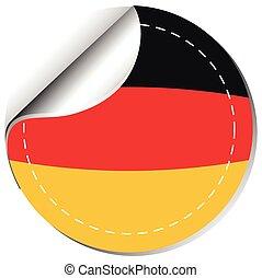 Sticker design for Germany flag