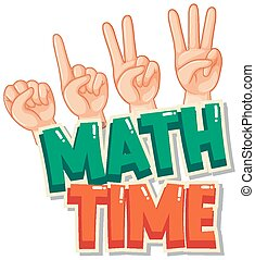 Sticker design for math time with counting by hand