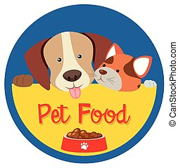 Sticker design for pet food