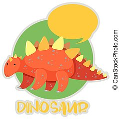 Sticker design with stegosaurus