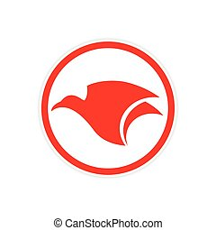 Sticker Eagle flies logo
