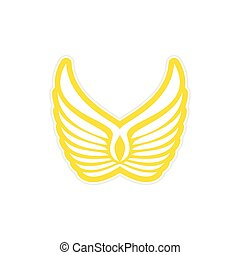 Sticker Eagle Wings logo