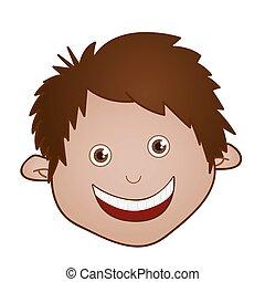 sticker face boy icon