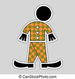 sticker - fall green and orange figure