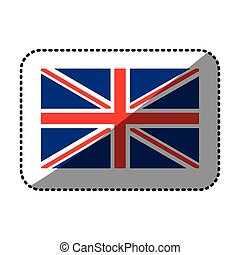 sticker flag united kingdom classic british icon