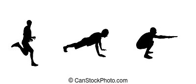 Sticker for car athletes: Silhouette of runner, person engaged i