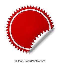 Sticker for promotion. - A 3d illustration of sticker for...