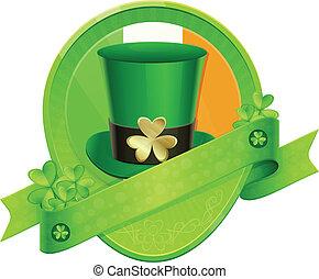 Sticker Green Cylinder St Patrick's Day