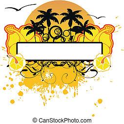 sticker, hawaiian, copyspace8