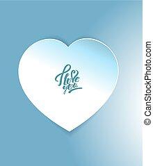 Sticker in the shape of heart