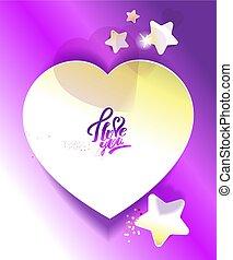 Sticker in the shape of heart.