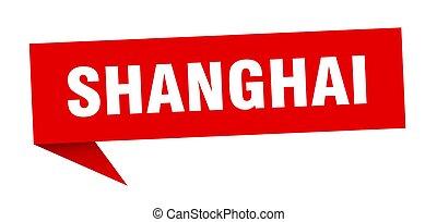 sticker., indicador, poste indicador, rojo, señal, shanghai