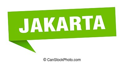 sticker., indicador, verde, poste indicador, yakarta, señal