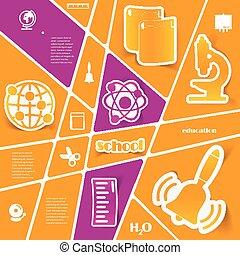 sticker, infographic, opleiding