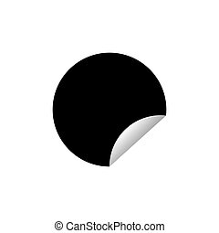 Sticker isolated on white background. Vector illustration eps10