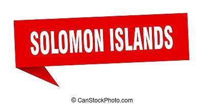 sticker., isole, solomon, signpost, rosso, segno, puntatore
