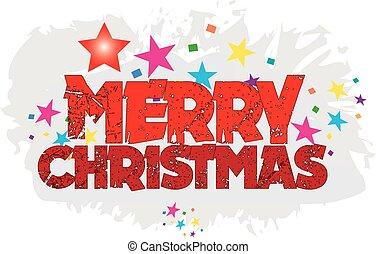 sticker, kerstmis, clipart