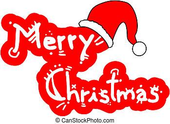 sticker, kerstmis