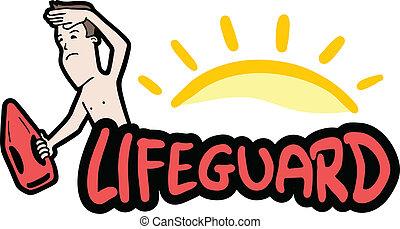 Creative design of sticker lifeguard