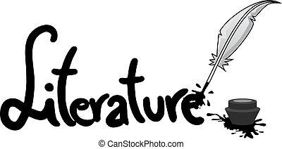 sticker, literatuur