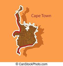 Sticker map of Capetown.