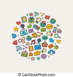 Sticker mobile apps set