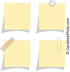 Sticker note papers