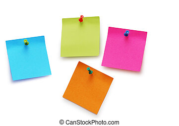 Sticker notes isolated on the white background
