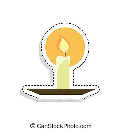 Sticker of a candle icon