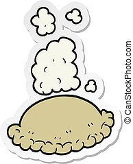 sticker of a cartoon baked pasty