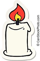 sticker of a cartoon candle