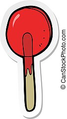sticker of a cartoon candy lolipop