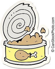 sticker of a cartoon canned food