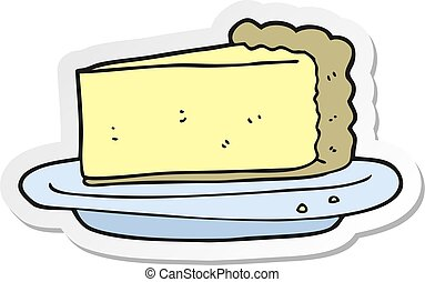 sticker of a cartoon cheesecake
