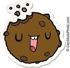 sticker of a cartoon cookie