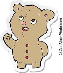 sticker of a cartoon cute teddy bear