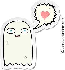 sticker of a cartoon ghost