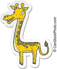 sticker of a cartoon giraffe