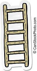 sticker of a cartoon ladder