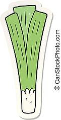 sticker of a cartoon leek