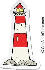 sticker of a cartoon light house