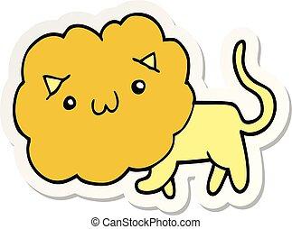 sticker of a cartoon lion