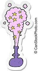 sticker of a cartoon magic potion